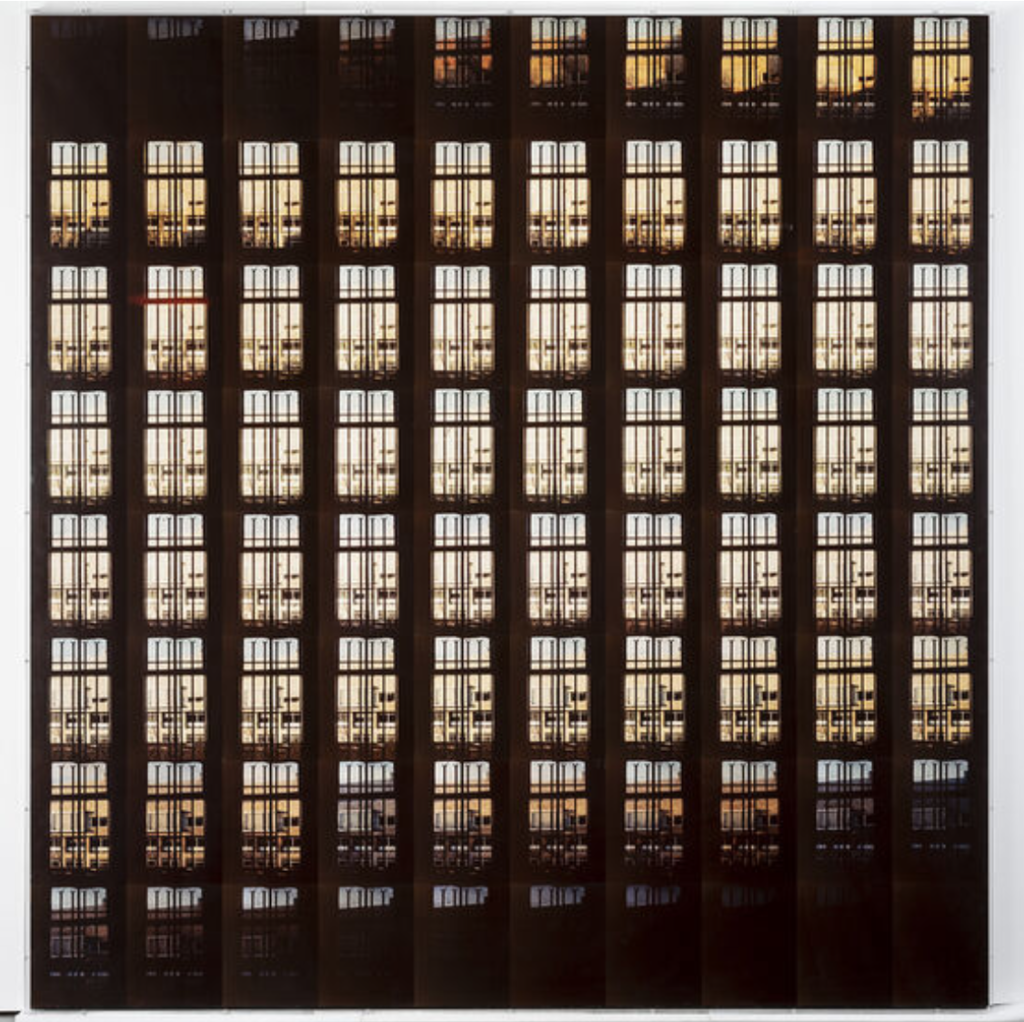 Jan Dibbets, The Shortest Day at the Van Abbemuseum, 1970, color photograph on acrylic board, 170.2 x 176.5 cm: https://vanabbemuseum.nl/en/collection/details/collection/?lookup%5B1673%5D%5Bfilter%5D%5B0%5D=id%3AC860